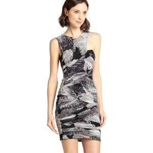 Bcbgmaxazria Roxanne Fitted Abstract Floral Dress